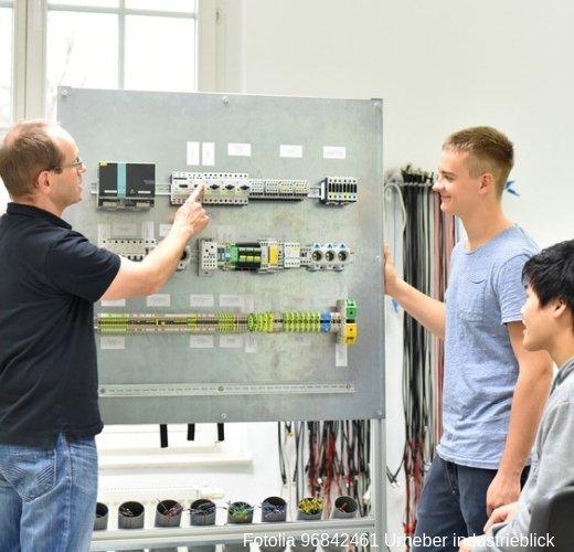 Elektroniker für Automatisierungstechnik bei der Weiterbildung im Betrieb